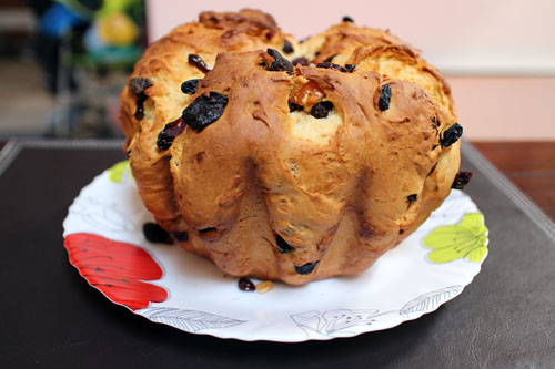 Milk Loaf with dried fruits