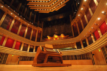 the organ in Mupa, Béla Bartók National Concert Hall