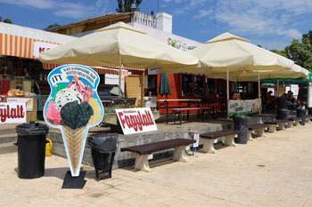 ice cream, fast food pavilions on Palatinus