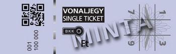 a sample single ticket, purple colored