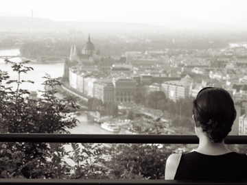 view from Buda Castle Hill
