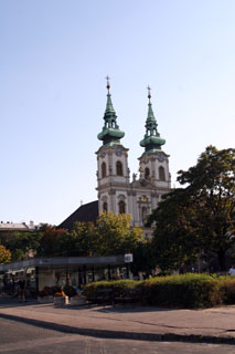 St. Anne Church with its two towers on Batthyany Sqr.