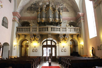 the organ of St. Michael Church