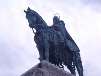 Statue of King St. Stephen in Buda Castle