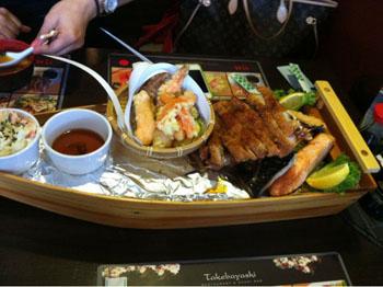 sushi plate in Takebayashi
