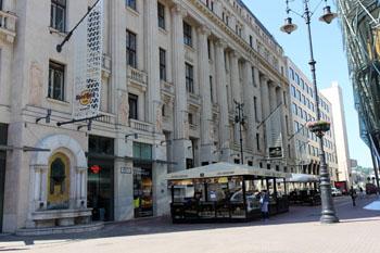 the Hard Rock Cafe in Vaci utca