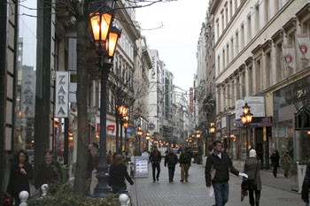 Christmas Shopping in Vaci Utca