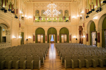 the imposing concert hall in the Vigao