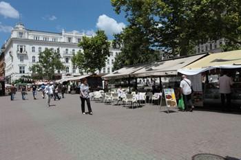 a festival on Vorosmarty Square