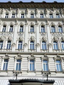 the facade of Hotel Nemzeti