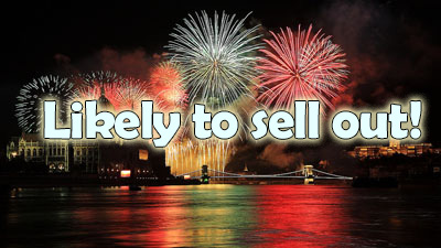 festive fireworks over the Danube
