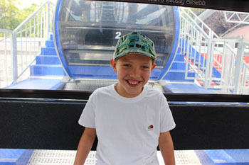 Our son enjoying a ride on the Budapest Eye