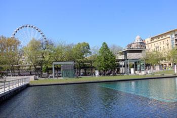 Budapest Eye and the Akvarium's terrace