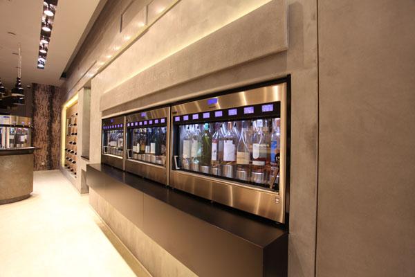 Wine dispensing machines