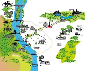 view point e-bike tour map