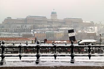 Buda Royal Palace in winter