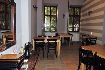 interior of Concerto cafe in Dob Street