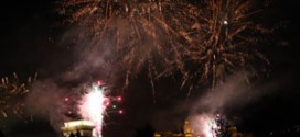 the Fireworks of august 20. as seen from Pest