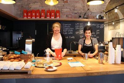 two barista ladies in Espresso Embassy