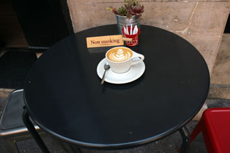 a cup of flat white in My Little Melbourne, Budapest