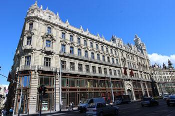 the Klotild Palace's facade from Vaci Street