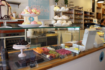 macarons, meringues on the counter