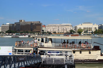 InterContinental Budapest's facade from Buda