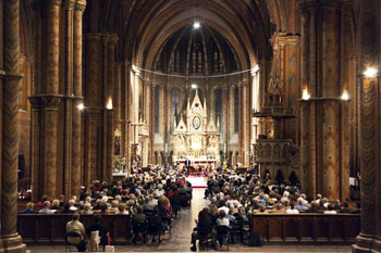 a concert in Matthias Church