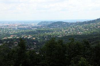 The Buda Hills from te children's railway