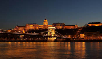 budapest and the Danube by night