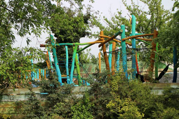 a park in the zoo