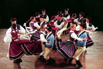 Members of the Danube Folk Ensemble on Stage