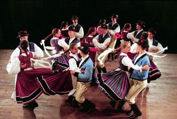 Members of the Danube Folk Ensemble on Stage