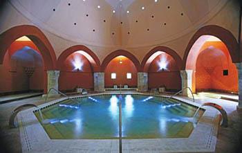 the octagonal pool in Veli Bej (Császár) Bath Budapest