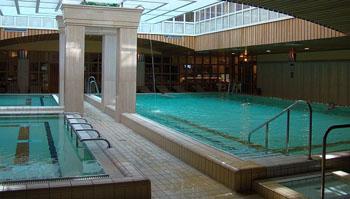 the pool in Aquincum Hotel
