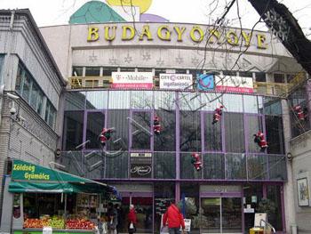 the entrance and glass facade of Budagyongye Plaza
