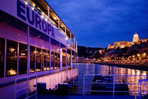 on a Danube River Tour at night