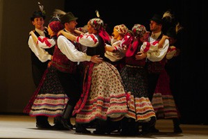 Folk dance by a Hungarian Dance Ensemble