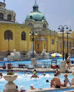 the Széchenyi Bath in summer