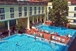 outdoor pools in Lukács Spa