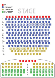 color-coded seat map in Danube Palace's thetare hall