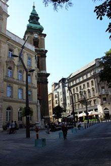 The University Church (church of the Virgin Mary) on Egyetem tér