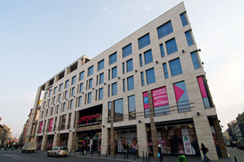 the facade of Europeum Shopping centre