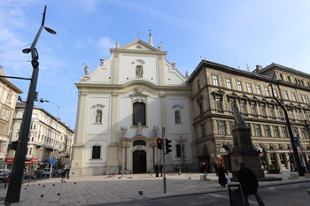 The Renewed Ferenciek tere with the church