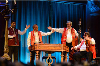 Gypsy music concert with dulcimer play