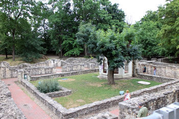 Monastery ruins on the island