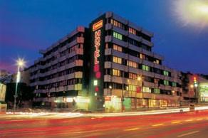 Hotel Charles at night