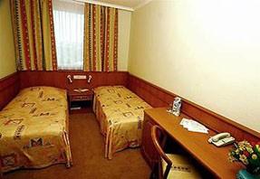 a basic room in Hotel Wien