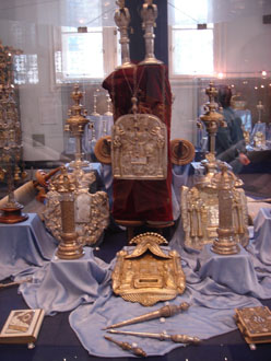 religious artefacts on display in the museum