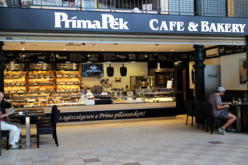 bakery and cafe called PrímaPék